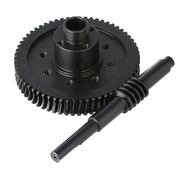 Steel worm and worm gear